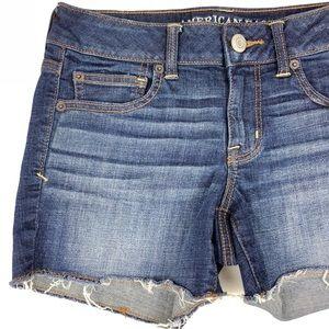 AEO Cut-off Super Stretch Jean Shorts